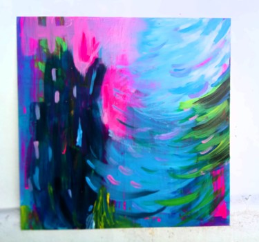 Painting, acrylic, pop art, artwork by Lu Sanches