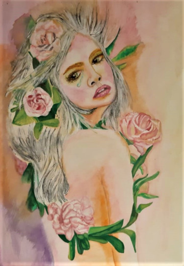 Painting, watercolor, figurative, artwork by Luana Béatrice Lazar