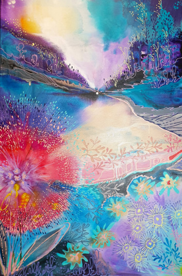 """Painting titled """"Atomic peace"""" by Luba Holland, Original Art, Acrylic"""
