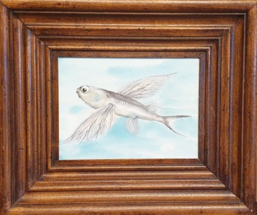 """Painting titled """"""""The flight"""""""" by Luba Holland, Original Art, Ink"""