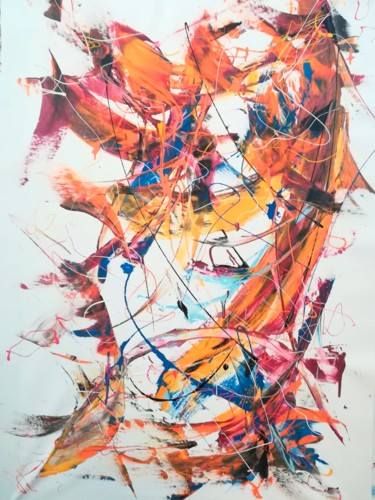 Painting, acrylic, abstract, artwork by Luc Mora