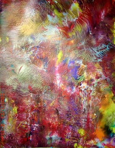 """Painting titled """"Eclat"""" by Luc Mora, Original Art, Acrylic"""
