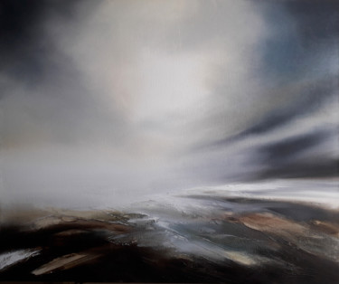 Landscape Painting, oil, abstract, artwork by Luc Andrieux