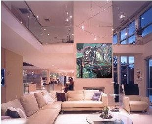 """Painting titled """"'Northern Lights'…"""" by Stephen Lucas, Original Art, Architecture"""