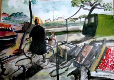 Everyday Life Painting, watercolor, artwork by Lucien Chiaselotti