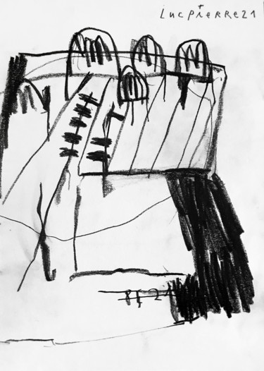 """Drawing titled """"SAND MEMORY #3"""" by Luc Pierre, Original Art, Graphite"""
