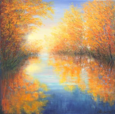 Color Painting, oil, impressionism, artwork by Ludmilla Ukrow