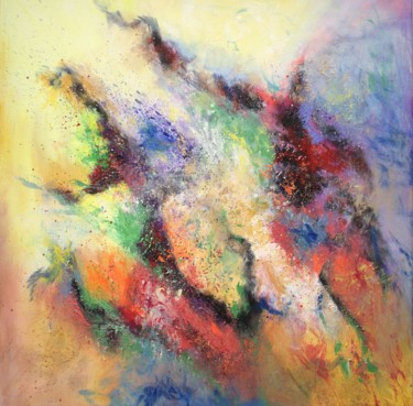 """Painting titled """"Abstract """"Mystery"""""""" by Ludmilla Ukrow, Original Art, Acrylic"""