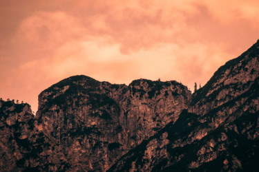 """Photography titled """"Red Sky Mountains"""" by Luigi Veggetti, Original Art, Digital Photography"""