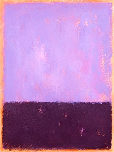 """Painting titled """"Black and violet"""" by Luis Medina, Original Art, Acrylic"""