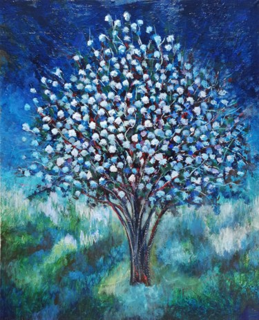"""Painting titled """"MAGNOLIA AU CLAIR D…"""" by Luis Miguel Aparisi, Original Art, Oil Mounted on Stretcher frame"""