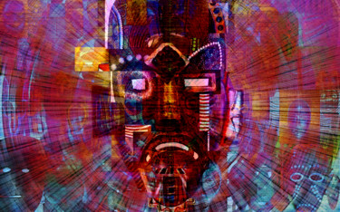 """Digital Arts titled """"Tribe Difference"""" by Lx Unda, Original Art, Collages"""