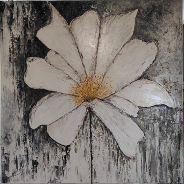 Flower Painting, oil, impressionism, artwork by Lydia Troussier