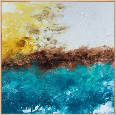 """Painting titled """"A Moment Of Bliss"""" by Lynne Godina-Orme, Original Art, Acrylic Mounted on Stretcher frame"""