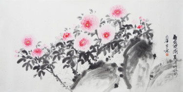 """Painting titled """"Fragrance Floats Ou…"""" by 志泽 吕, Original Art, Pigments"""