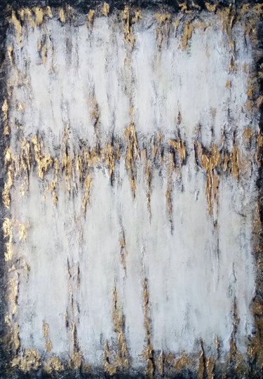 """Painting titled """"White abstraction"""" by Marina Ternavskaya, Original Art, Acrylic Mounted on Stretcher frame"""