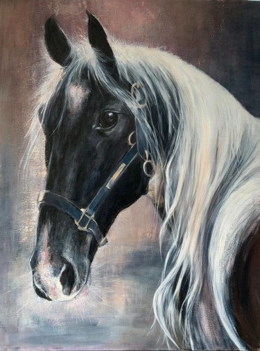 """Painting titled """"Horse"""" by Magdalena Weber, Original Art, Oil"""
