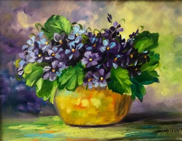 """Painting titled """"Violets - by Marina…"""" by Frederick Lyle Morris, Original Art, Oil"""