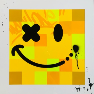 """Painting titled """"Smile?"""" by Machone, Original Art, Spray paint"""