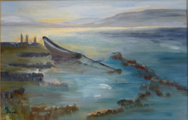 """Painting titled """"Dawn"""" by Maddalena Pacini, Original Art, Oil"""