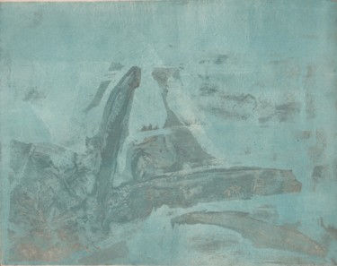 Abstract Printmaking, etching, expressionism, artwork by Magdalena Gintowt-Juchniewicz