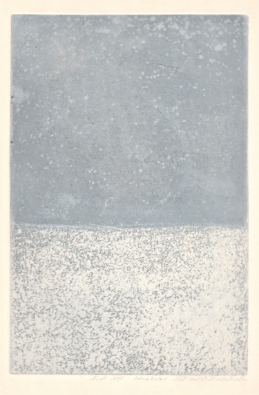 """Printmaking titled """"winter"""" by Magdalena Gintowt-Juchniewicz, Original Art, Etching"""