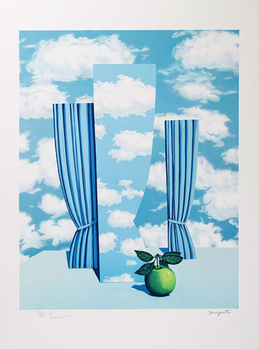 """Printmaking titled """"Le Beau Monde"""" by René Magritte, Original Art, Lithography"""