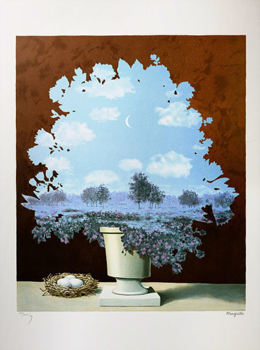 """Printmaking titled """"Le Pays Des Miracles"""" by René Magritte, Original Art, Lithography"""