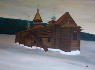 """Painting titled """"Orthodoxe"""" by Maï, Original Art, Oil"""