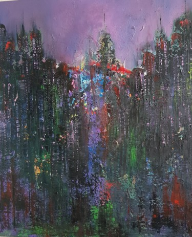 """Painting titled """"MANHATAN"""" by Abdelmajid Ouriad, Original Art, Oil"""