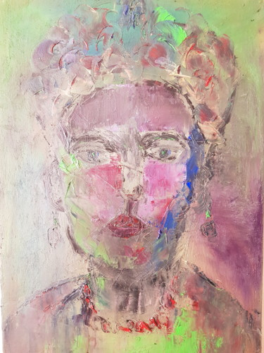 """Painting titled """"FRIDA"""" by Abdelmajid Ouriad, Original Art, Oil"""