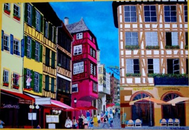 """Painting titled """"vieux strasbourg"""" by André Malterre, Original Art,"""