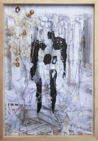 """Collages titled """"Ode to Beirut – Fig…"""" by Manar Ali Hassan Galvani, Original Art, Acrylic"""