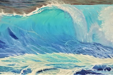 """Painting titled """"Wave in holidays"""" by Mantas Naulickas, Original Art, Oil"""