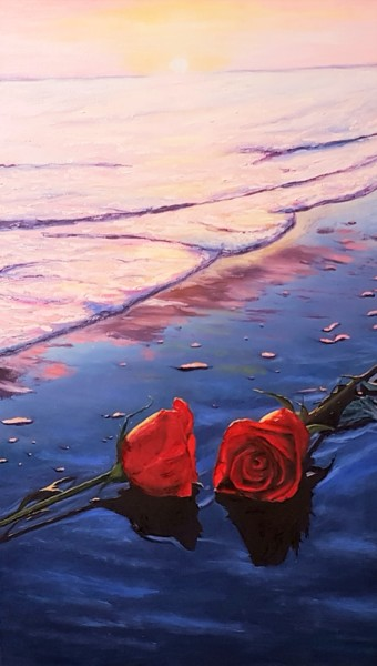"""Painting titled """"Peace in two"""" by Mantas Naulickas, Original Art, Oil"""