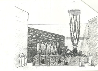"""Drawing titled """"Stage Planning_2"""" by Mandy Sand, Original Art, Chalk"""