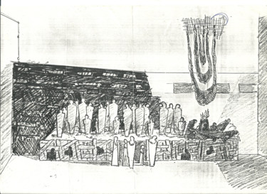 """Drawing titled """"Stage Planning_3"""" by Mandy Sand, Original Art, Ink"""
