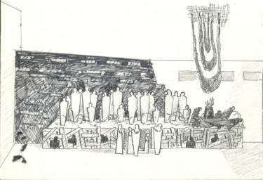 """Drawing titled """"Stage Planning_4"""" by Mandy Sand, Original Art, Chalk"""