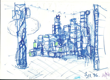 """Drawing titled """"Stage Planning_5"""" by Mandy Sand, Original Art, Chalk"""