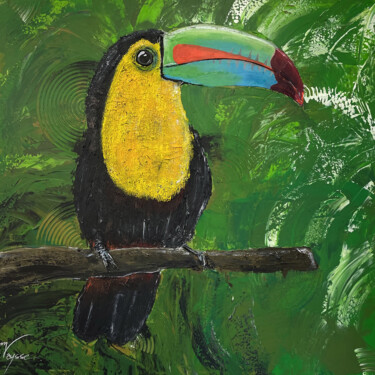 """Painting titled """"Le toucan"""" by Manon Vaysse, Original Art, Acrylic"""