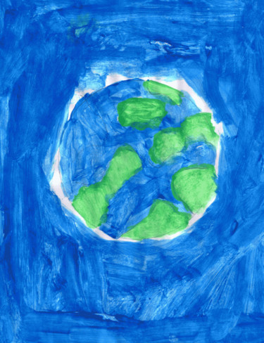 """Painting titled """"Earth"""" by Manula Hewamanage, Original Art,"""
