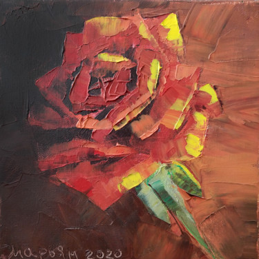 """Painting titled """"Fire Rose"""" by Mariam Mary-Ellen, Original Art, Oil"""