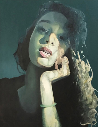 Portrait Painting, acrylic, figurative, artwork by Marc Palluy