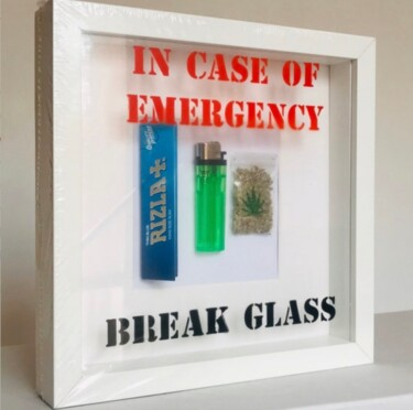 """Design titled """"In case of emergency"""" by Marcell Cortes, Original Art, Table art"""