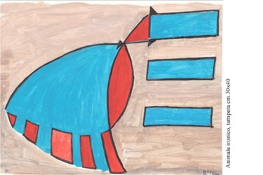 """Painting titled """"ANIMALE IRONICO, te…"""" by Marcello Aprea, Original Art,"""