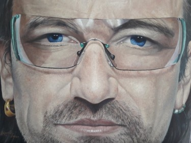 """Painting titled """"Bono Vox"""" by Marcelo Lopes, Original Art, Oil"""