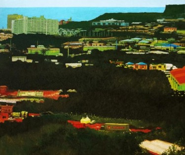 """Painting titled """"""""Upper Tumon"""" Guam"""" by Marcial, Original Art,"""