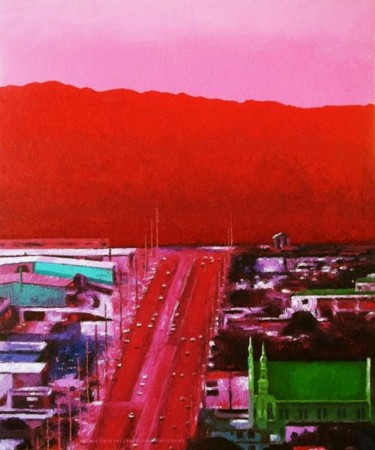 """Painting titled """"""""Route 16"""" Guam"""" by Marcial, Original Art,"""