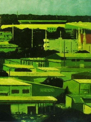 """Painting titled """"""""Industrial"""" Guam"""" by Marcial, Original Art,"""