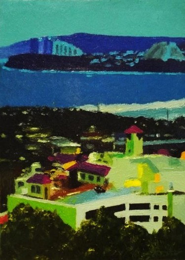 """Painting titled """"""""Chamorro Village""""…"""" by Marcial, Original Art,"""